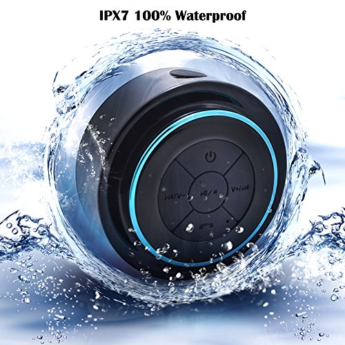 Bluetooth Shower Speaker,DLAND Waterproof Shockproof Wireless Bluetooth Stereo Speaker Built-in Mic for Speakerphone-Portable Stream Radio Fm Pairs with all Smartphones-- Music & Fun Indoor & Outdoor