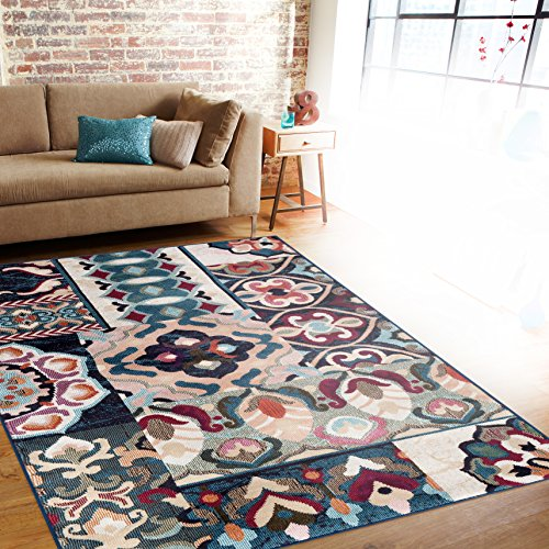 Patchwork Multi Soft Area Rug