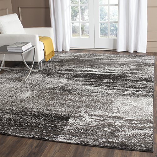 Safavieh Adirondack Collection ADR112A Modern Abstract Silver and Black Area Rug (4' x 6')