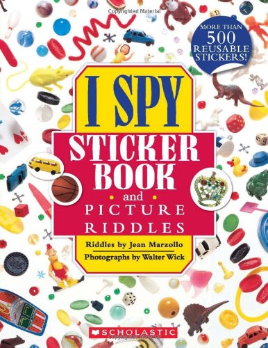 I Spy Sticker Book and Picture Riddles