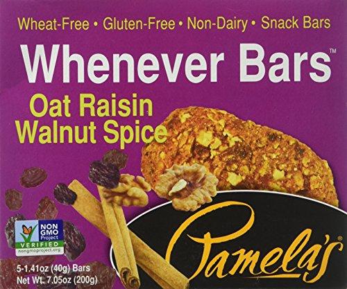 Pamela's Whenever Bars, Oat Raisin Walnut Spice, 5 ct