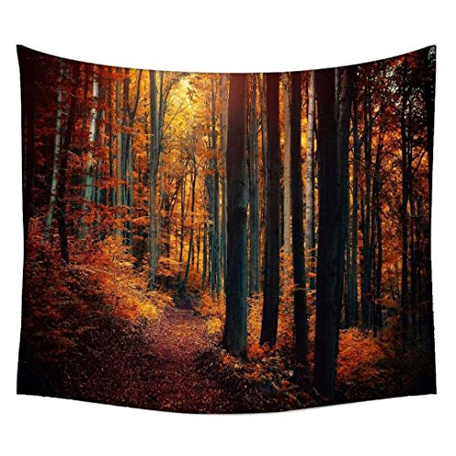 Snoogg Red Forest Wall Hanging Indian Mandala Tapestry Decorative Dorm Tapestry Wall Hanging Beach Picnic Sheet Hippie Tapestry Wall Tapestries , Bohemian Tapestries