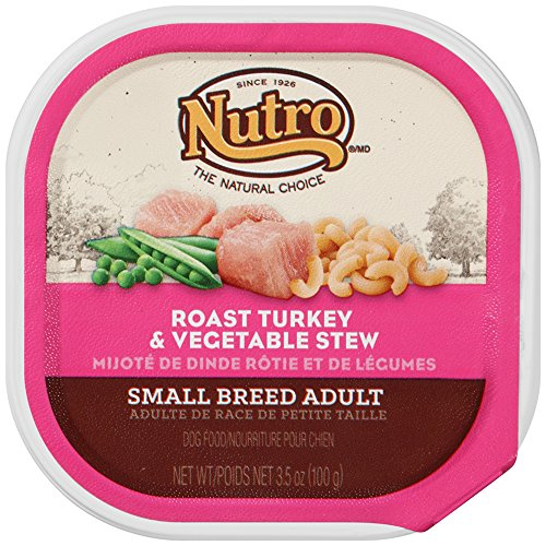 NUTRO Small Breed Adult Roast Turkey and Vegetable Stew Dog Food Trays (Pack of 24)