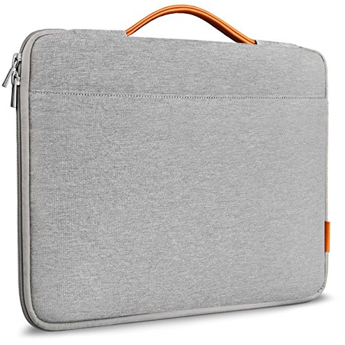 Inateck 13-13.3 Inch MacBook Air/ MacBook Pro / Pro Retina Case Sleeve Cover Ultrabook Netbook Laptop Bag with Leather Handle for Apple Macbook Air 13, Macbook Pro 13, Macbook Pro Retina 13, Light Gray