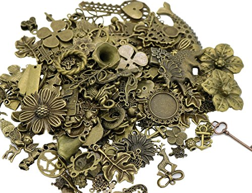 Bronze Antique Assorted Mix Tibetan Charms Pendants