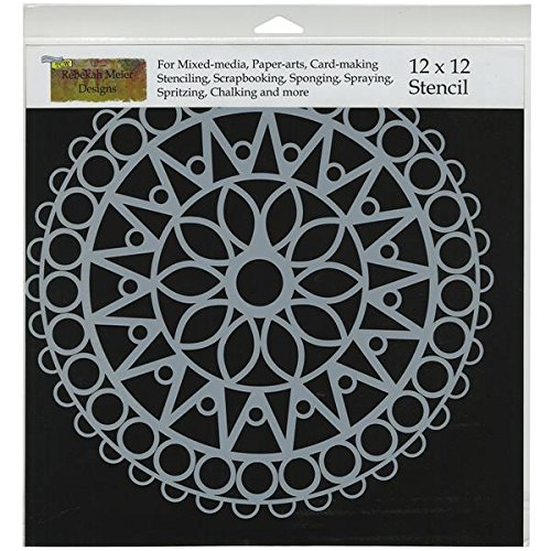 Crafters Workshop Template, 12 by 12-Inch, Stained Glass