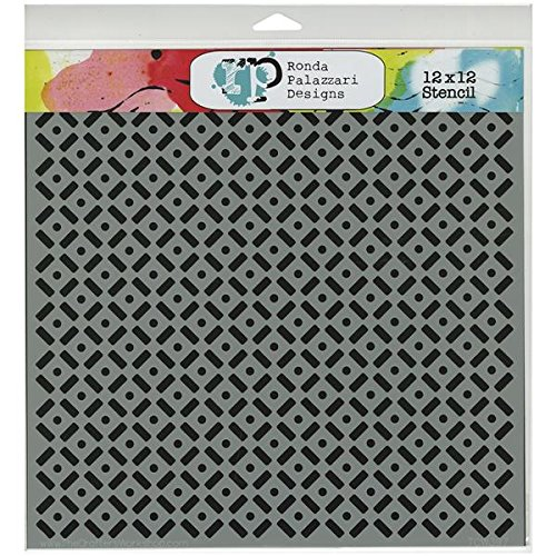 Crafters Workshop Template, 12 by 12-Inch, Dots and Dashes