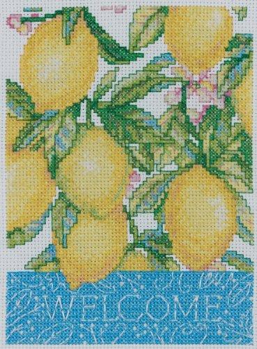 Bucilla 45522 Counted Cross Stitch Picture Kits Mini, Welcome