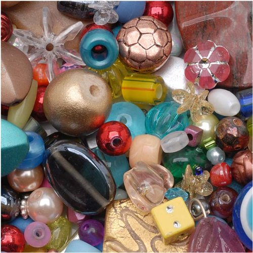 eCrafty EC-4975 Mr. Kitty's Big Bead Bonanza Beads Mix, 1/2-Pound