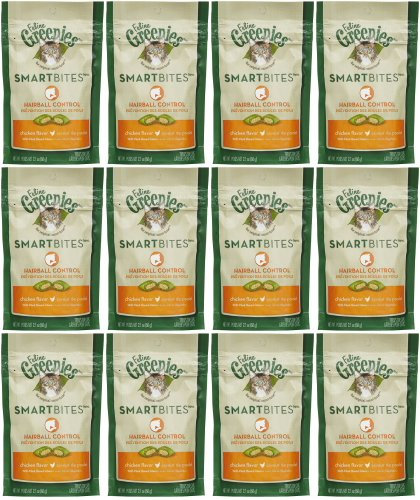 Feline Greenies Chicken SmartBites Hairball Control 1.6Lbs (12x 2.1oz)