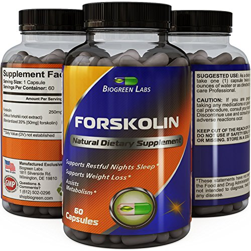 Natural Coleus Forskolin Extract Supplement - Herbal Weight Loss Vitamin - Best Thermogenic Fat Burner - Potent Antioxidant- Men and Women