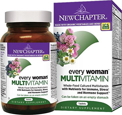 New Chapter Every Woman, Women's Multivitamin Fermented with Probiotics + Iron + Vitamin D3 + B Vitamins + Organic Non-GMO Ingredients - 24 ct