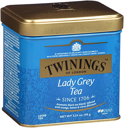 Twinings Lady Grey Tea, Loose Tea, 3.53-Ounce Tins (Pack of 6)