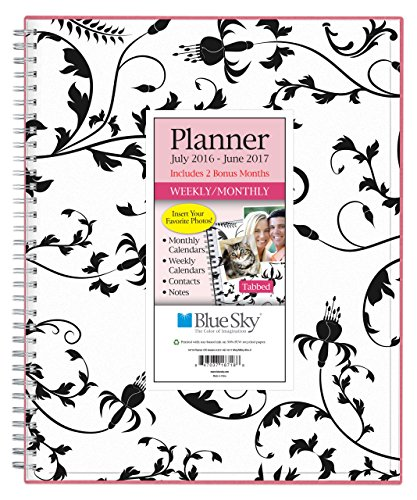 Blue Sky 2016-2017 Academic Year Weekly & Monthly Planner, Wire-O Binding, 8.5 x 11, Analeis (18718)