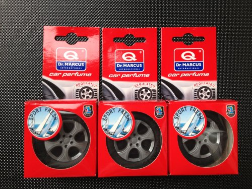3 X SPORT FRESH Car Vent Air Freshener Dr.MARCUS WHEEL