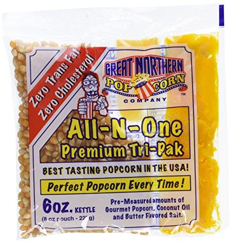 Great Northern Popcorn 1 Case (12) of 6 Ounce Popcorn Portion Packs Kit Cinema