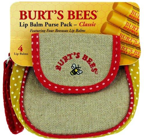 Burt's Bees Lip Balm Purse Pack - Classic 4 unit