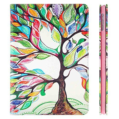 iPad Mini 4 Case, iPad Mini 4 Cover, TWOBIU(TM) PU Leather Interesting Extreme Durable and Protective Note Case for iPad Mini 4 with Card Slots and Built-in Stand(Abstract of Tree)