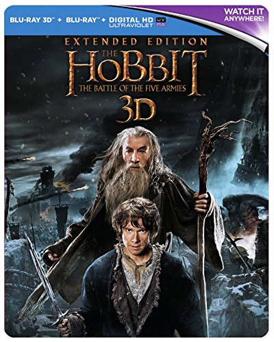 The Hobbit: The Battle Of The Five Armies - Extended Edition [Steelbook] [Blu-ray] [2014] [Region Free]