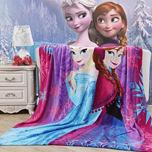 Blaze Children's Cartoon Printing Blanket Coral Fleece Blanket (28 By 40 Inch, Frozen)