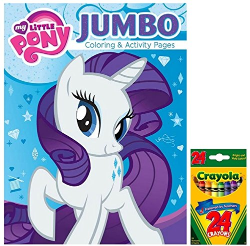 My Little Pony Jumbo Coloring and Activity Book with 24 ct Crayola Crayons