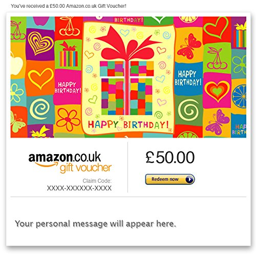 Happy Birthday (Gift-Wrapped) - E-mail Amazon.co.uk Gift Voucher