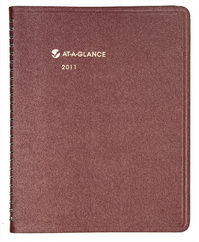 AT-A-GLANCE Monthly Planner, 6 x 9 Inches, Burgundy, 2011 (70-120-50)