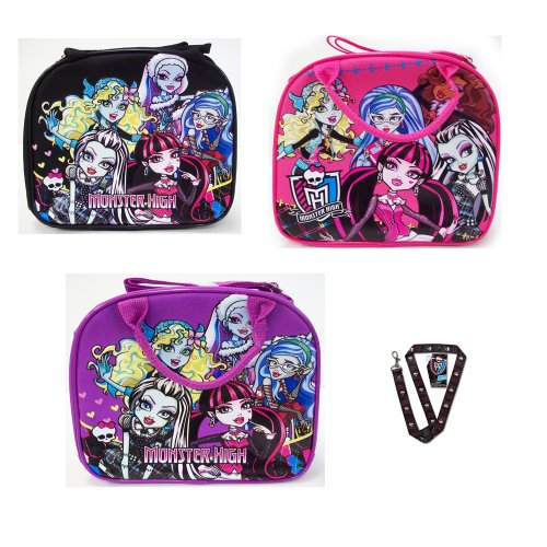 Monster High Lunch Bag with Monster High Lanyard -random 1pc