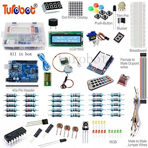 Arduino UNO R3 Super Starter Kit Project Development DIY board 1602 LCD Servo Motor Dot Matrix Breadboard LED for Arduino