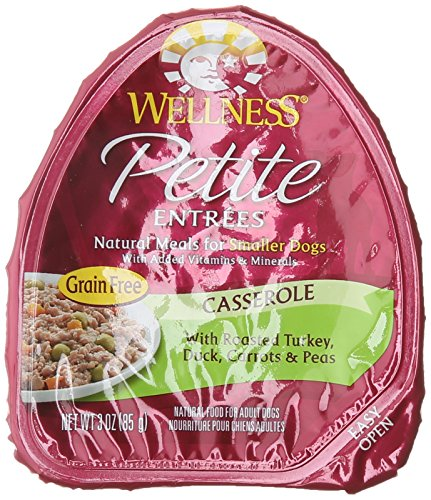 Wellness Petite Entrees Casserole Grain Free Casserole Roasted Turkey & Duck Natural Wet Dog Food, 3-Ounce Cup