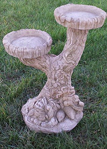 Stone Concrete Bird Bath Two Arm Antique Looks Great.