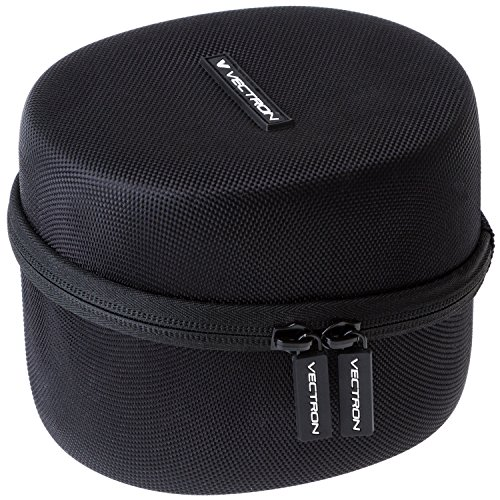 VECTRON X7 - Howard Leight Case For Honeywell Impact Sport OD Electric Earmuff - EVA Hardshell For Ultimate Protection - Includes Mesh Pocket for Accessories - Black