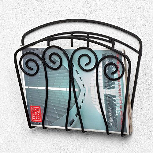 Spectrum Diversified Scroll Wall Mount Magazine Rack