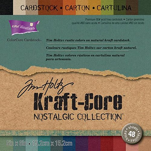 Darice Core'dinations Kraft Core by Tim Holtz, 6 by 6-Inch, Nostalgic, 48-Pack