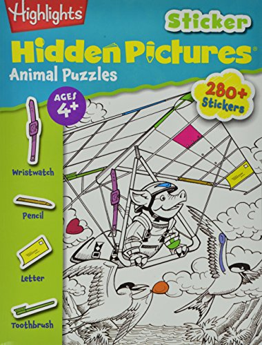 Highlights(TM) Sticker Hidden Pictures® Animal Puzzles
