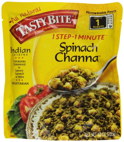 Tasty Bites Spinach Channa Entree, 10-Ounce (Pack of 6)