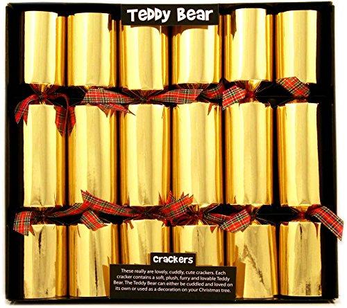 6 Teddy Bear Christmas Crackers