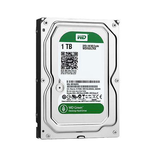 (Old Model) WD Green 1TB Desktop Hard Drive: 3.5-inch, SATA 6 Gb/s, IntelliPower, 64MB Cache WD10EZRX